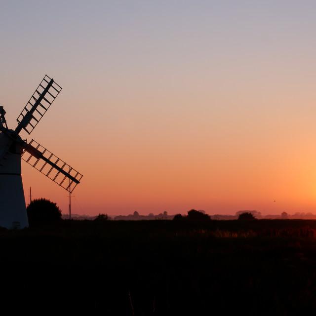 """Thurne Windmill Sunset"" stock image"