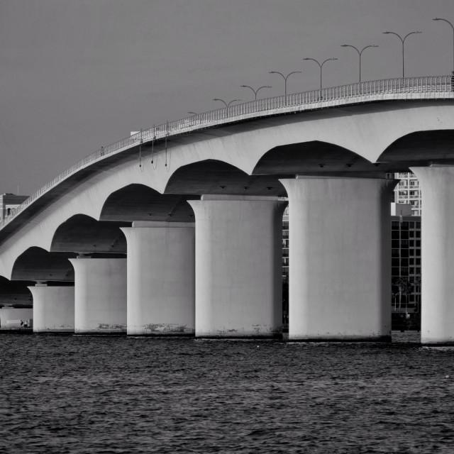 """Ringley Bridge"" stock image"