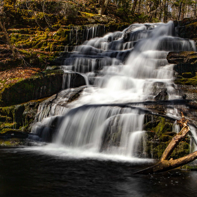 """Falls Brook Waterfall in Tunxis State Forest in Hartland, CT, USA"" stock image"