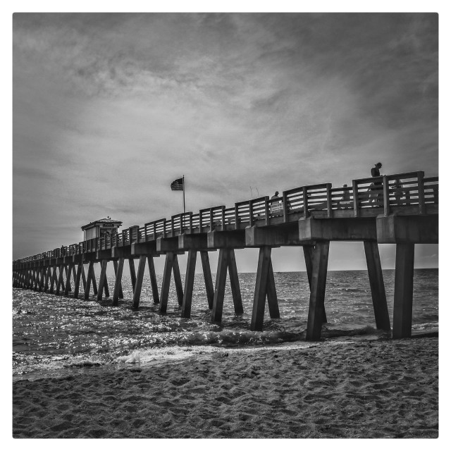 """Pier in Venice Beach"" stock image"