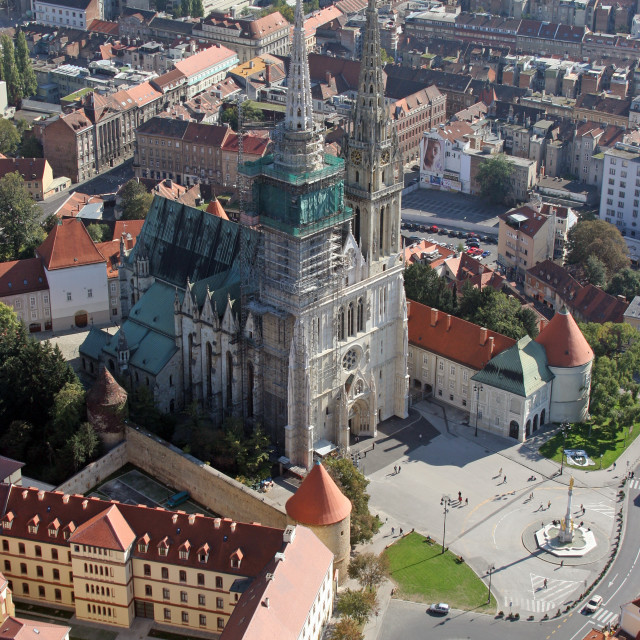 """""""Cathedral of the Assumption of the Virgin Mary in Zagreb, Croatia"""" stock image"""