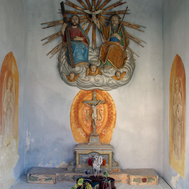 """""""Chapel of the Holy Trinity in Zagorska Sela, Croatia"""" stock image"""
