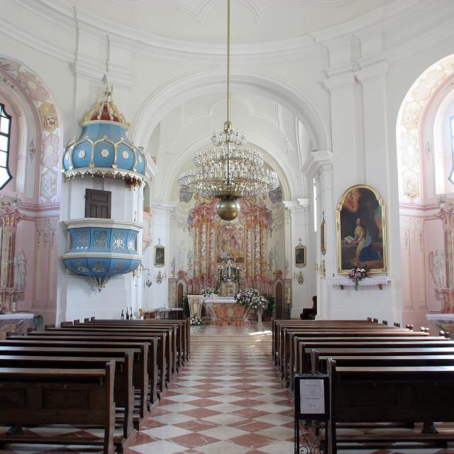 """Parish Church of St. Mary Magdalene in Sela kod Siska, Croatia"" stock image"