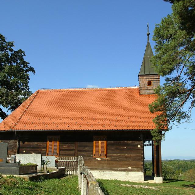 """Chapel of St. John the Baptist in Lukinic Brdo, Croatia"" stock image"