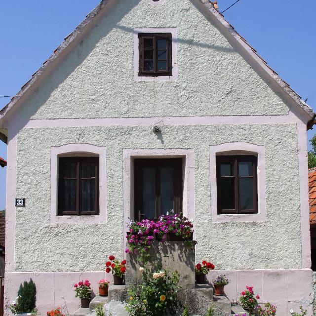 """Beautiful old farmhouse in Sveta Jana, Croatia"" stock image"