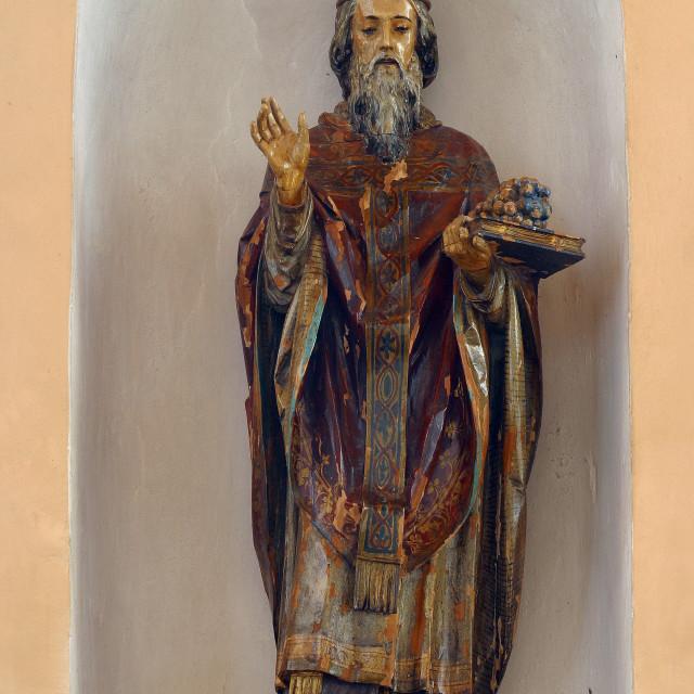 """Saint Urban, statue in the parish church of St. Anne in Sveta Jana, Croatia"" stock image"