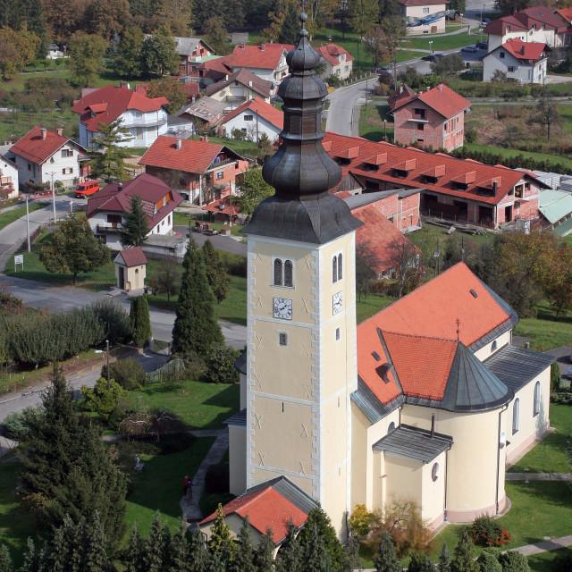 """St. George Parish Church in Gornja Stubica, Croatia"" stock image"