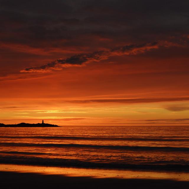 """""""Epic sunset in Lofoten"""" stock image"""