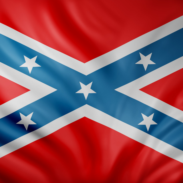 """""""3d rendering of a Rebel Confederated flag"""" stock image"""