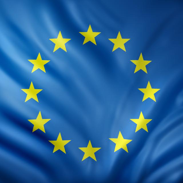 """""""3d rendering of an EEC flag"""" stock image"""