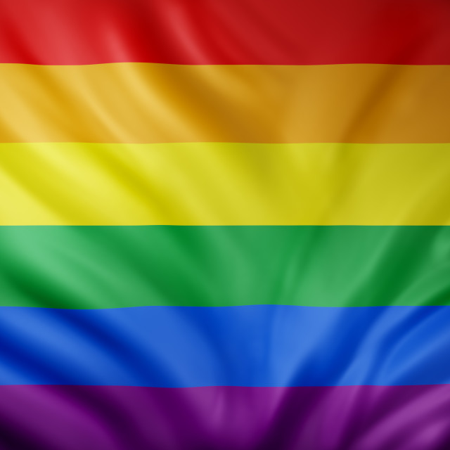 """""""3d rendering of a gay flag"""" stock image"""