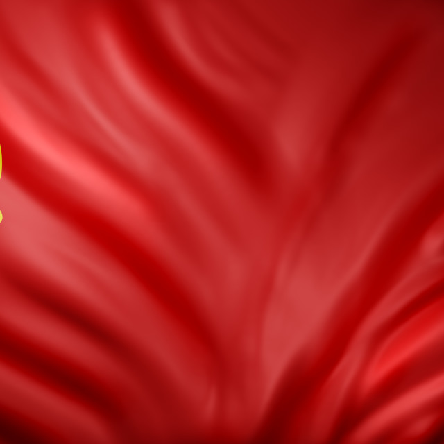 """""""3d rendering of a USSR flag."""" stock image"""