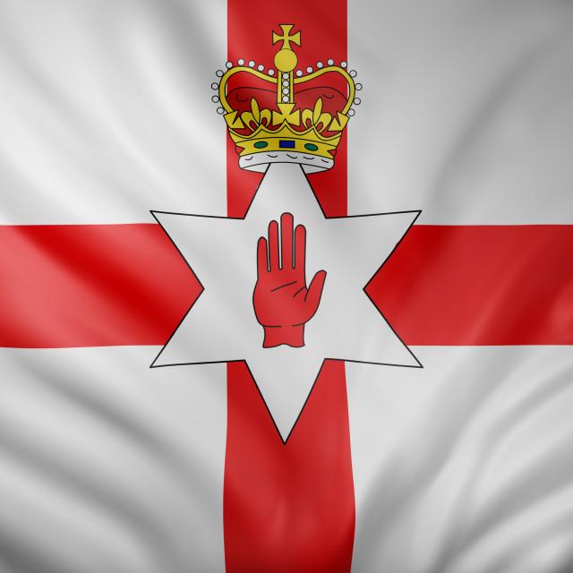 """Northern Ireland flag waving"" stock image"