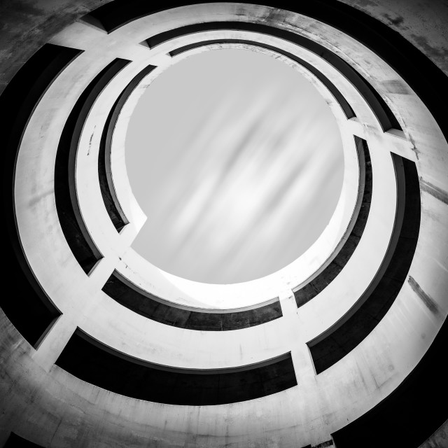 """""""Spiral in a multi storey car park"""" stock image"""