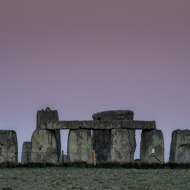 """Supermoon over Stonehenge"" stock image"