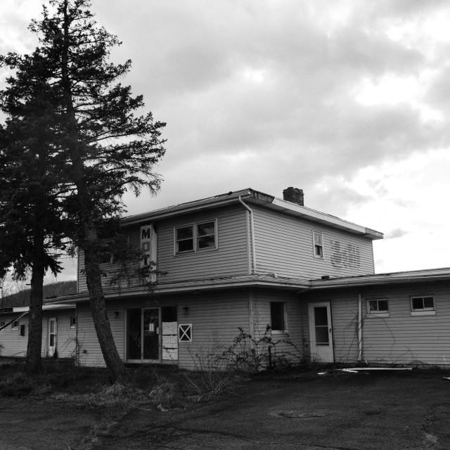 """""""Abandoned motel"""" stock image"""