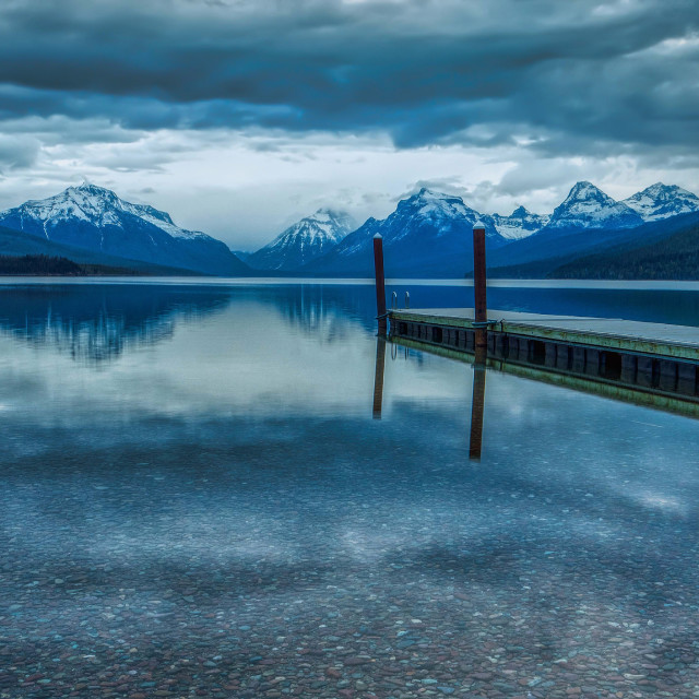 """travel-lake mcdonald-glacier national park-vacation"" stock image"