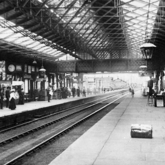 """Peterborough North Station (c.1907)"" stock image"