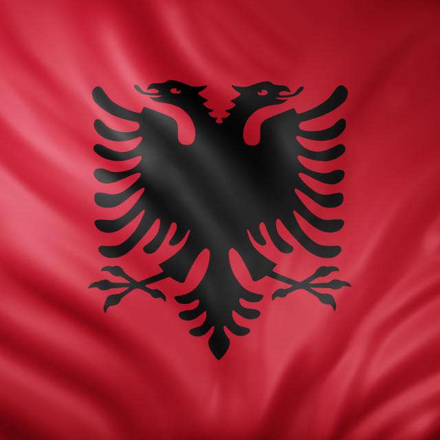 """Albania3d flag"" stock image"