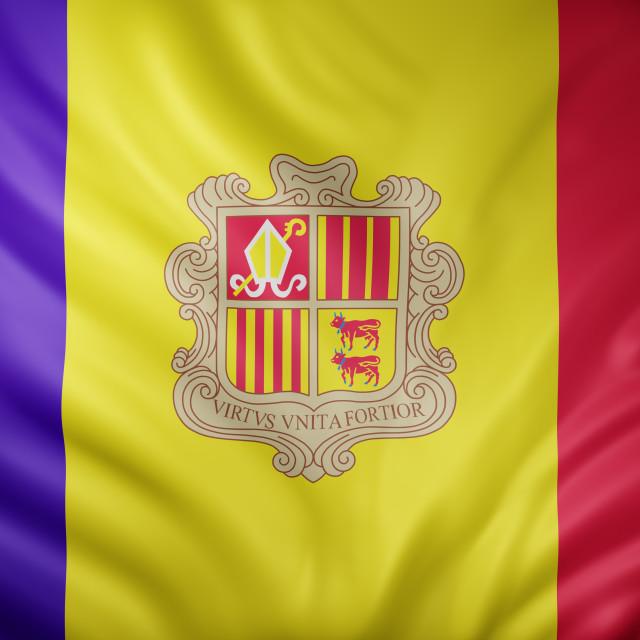 """Andorra 3d flag"" stock image"