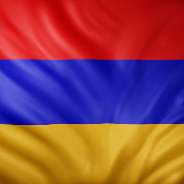 """Armenia 3d flag"" stock image"
