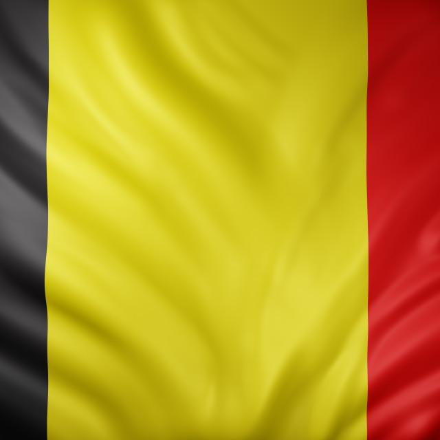 """""""Belgium 3d flag"""" stock image"""
