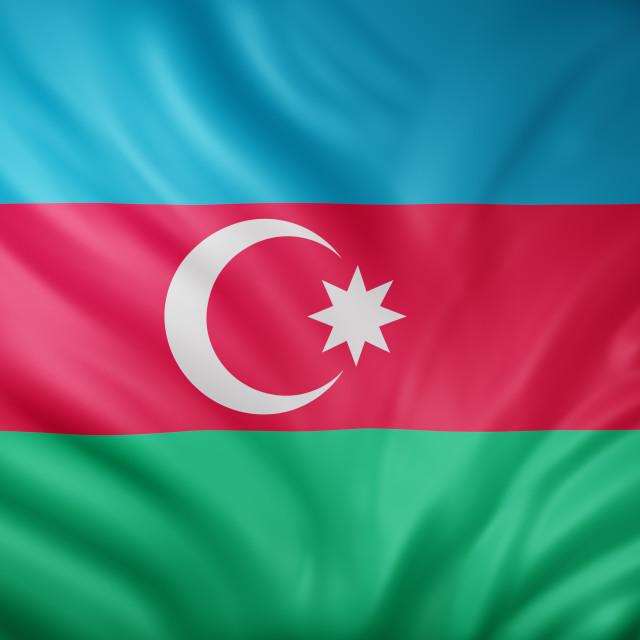 """Azerbaijan 3d flag"" stock image"