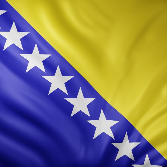"""Bosnia and Herzegovina 3d flag"" stock image"