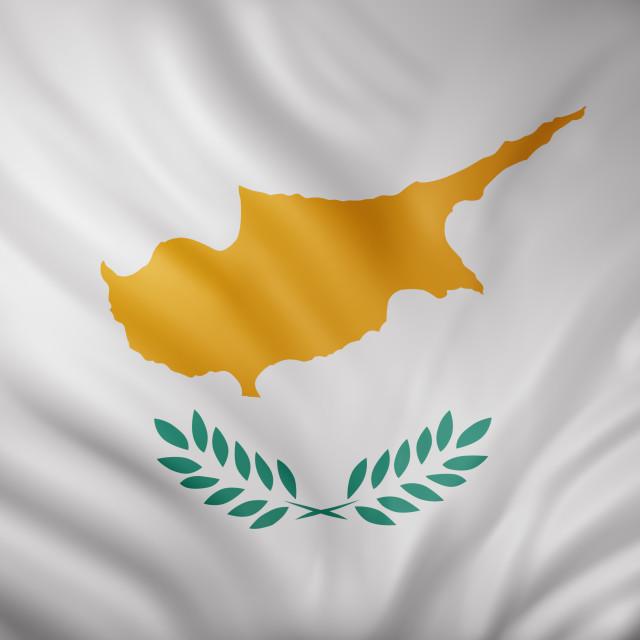 """Cyprus 3d flag"" stock image"
