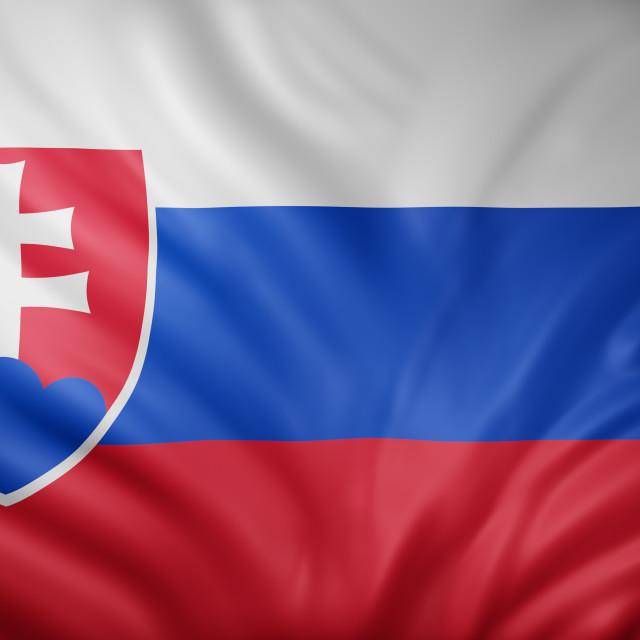 """Slovakia 3d flag"" stock image"