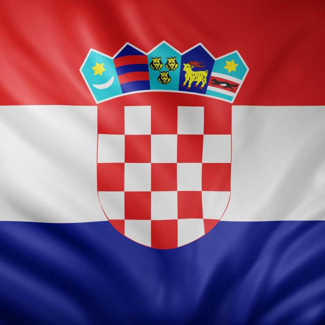 """Croatia 3d flag"" stock image"