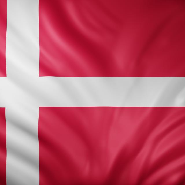 """""""Denmark 3d flag"""" stock image"""
