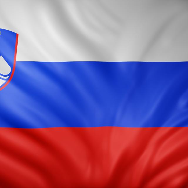 """Slovenia 3d flag"" stock image"
