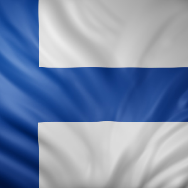 """""""Finland 3d flag"""" stock image"""