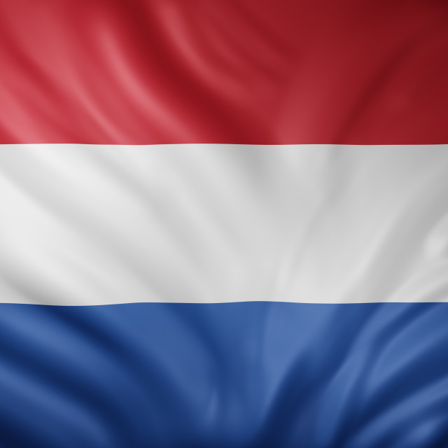 """""""Holland 3d flag"""" stock image"""