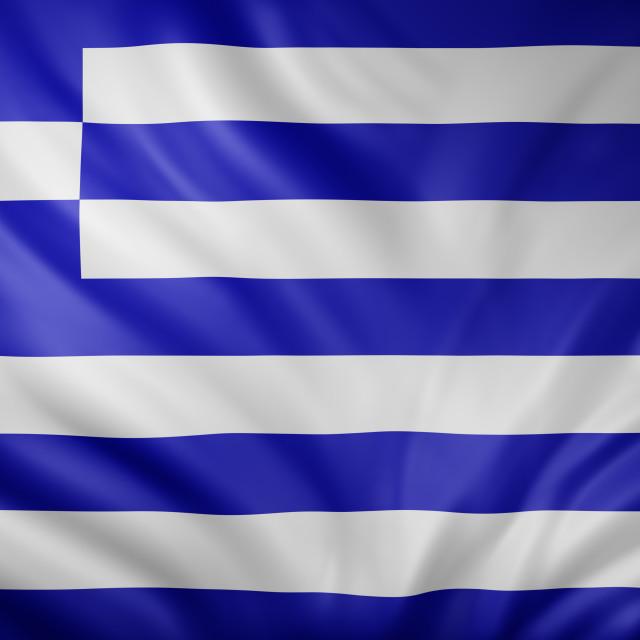 """Greece 3d flag"" stock image"
