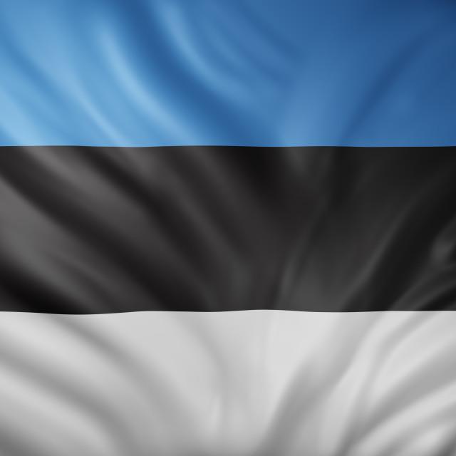 """Estonia 3d flag"" stock image"