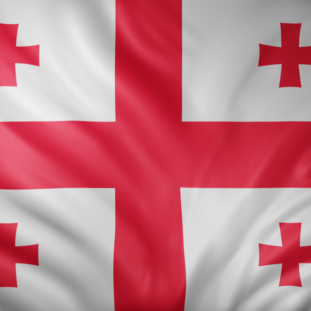 """Georgia 3d flag"" stock image"