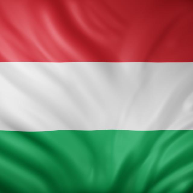 """Hungary 3d flag"" stock image"