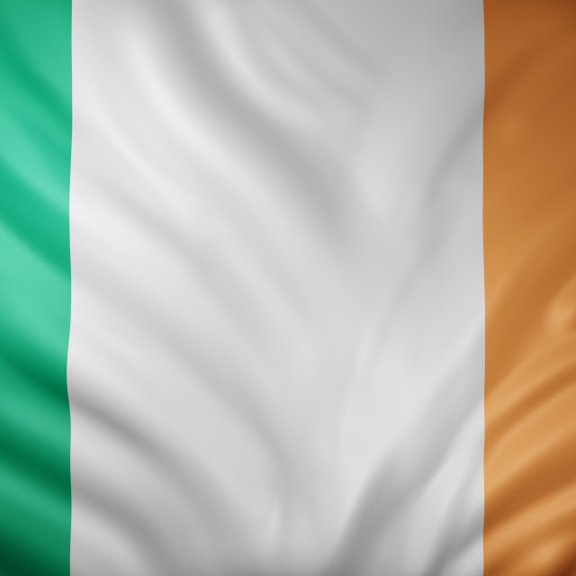 """Ireland 3d flag"" stock image"