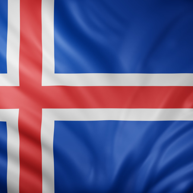 """Iceland 3d flag"" stock image"