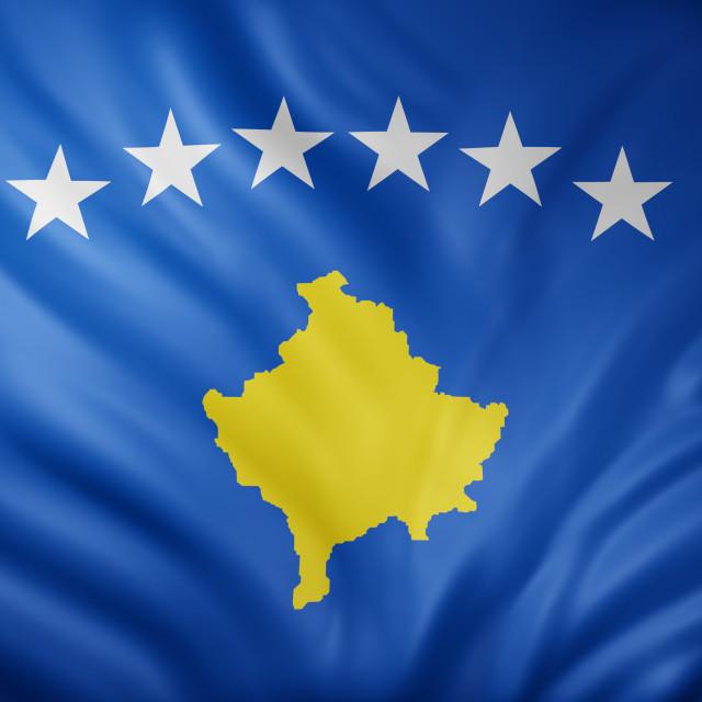 """""""Kosovo 3d flag"""" stock image"""