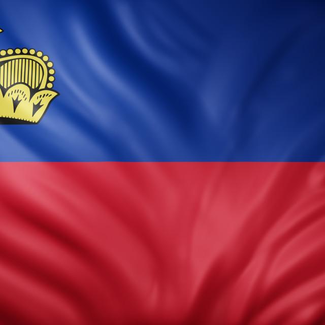 """""""Liechtenstein 3d flag"""" stock image"""