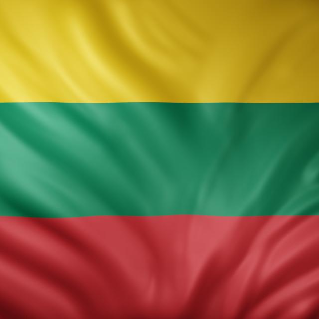 """Lithuania 3d flag"" stock image"
