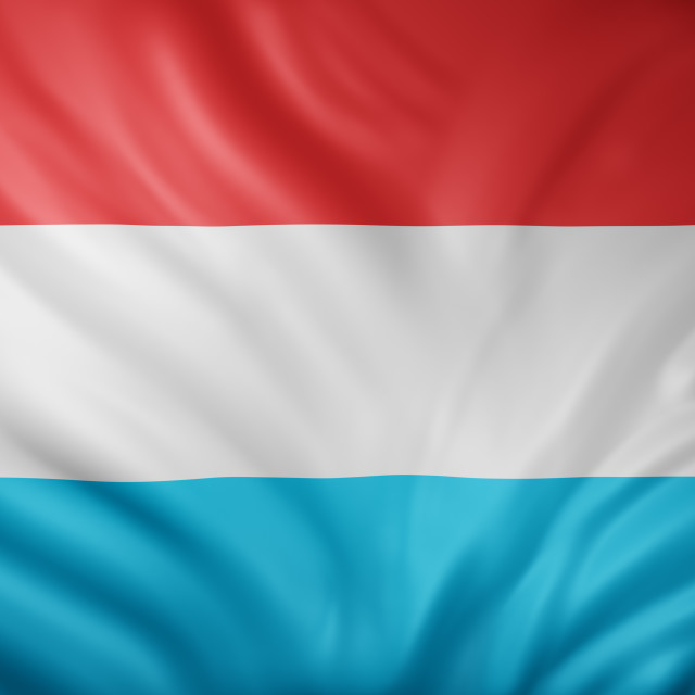 """""""Luxembourg 3d flag"""" stock image"""