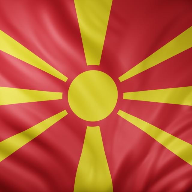 """Macedonia 3d flag"" stock image"
