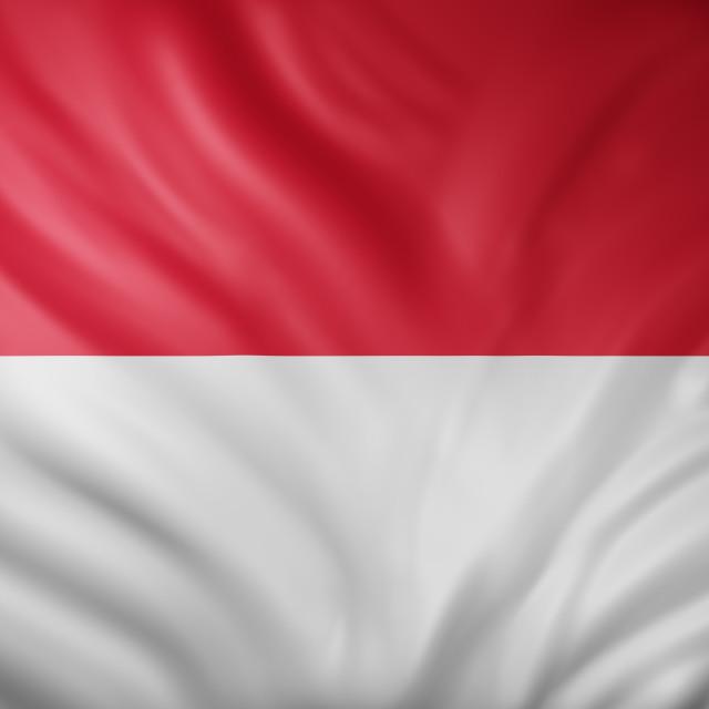 """""""Monaco 3d flag"""" stock image"""