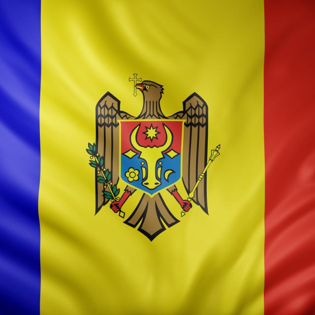 """Moldova 3d flag"" stock image"