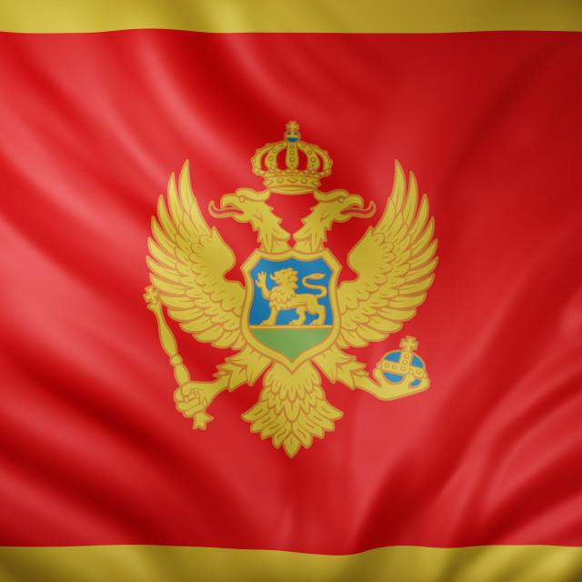 """Montenegro 3d flag"" stock image"