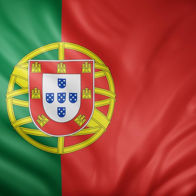 """Portugal 3d flag"" stock image"